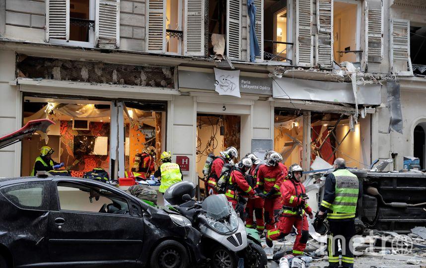 Взрыв в центре Парижа прогремел утром. Фото AFP