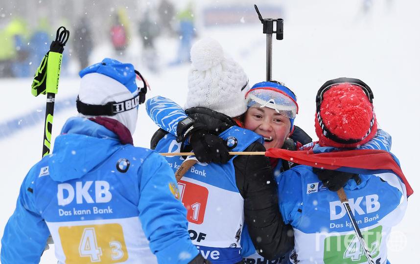 Российские биатлонистки завоевали золото на Кубке мира по биатлону. Фото Getty