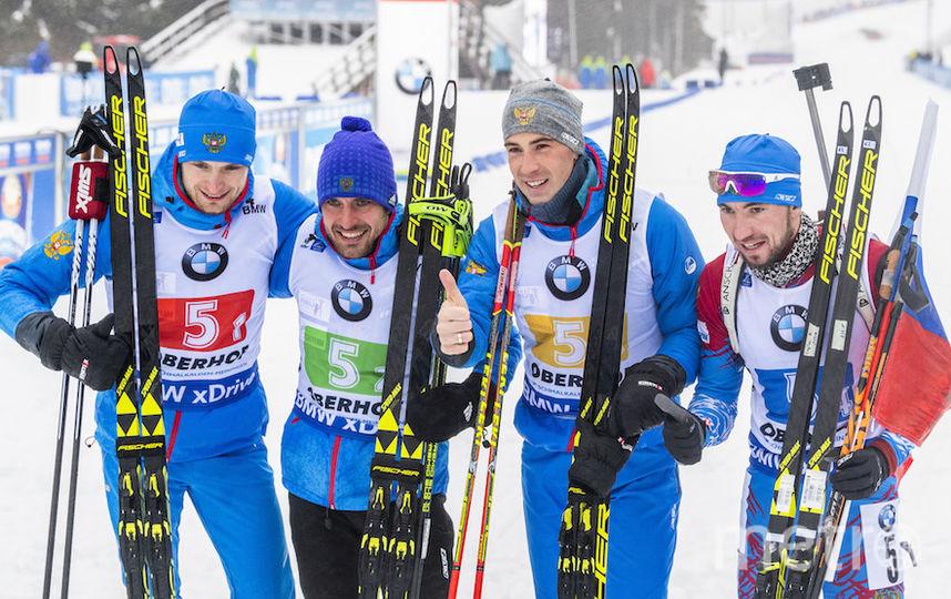 Для российских биатлонистов это первая победа в эстафете с февраля 2017 года. Фото AFP