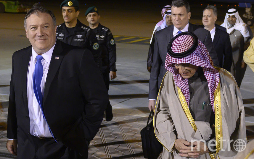 Госсекрутарь США Майк Помпео и Министр иностранных дел Саудовской Аравии Адель аль-Джубейр. Фото AFP