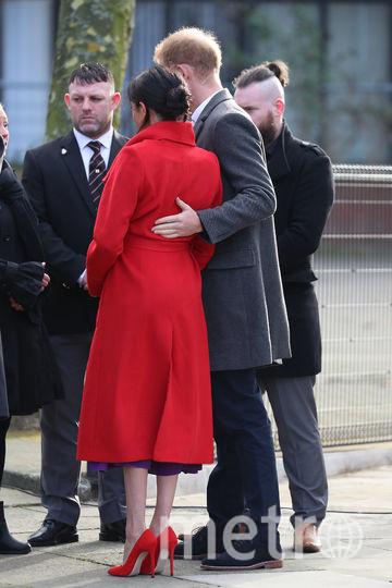 Меган Маркл с супругом побывали в Биркенхеде. Фото Getty