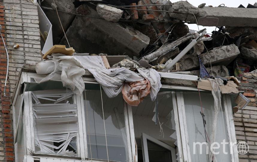 Фото разрушенного дома в городе Шахты. Фото Getty