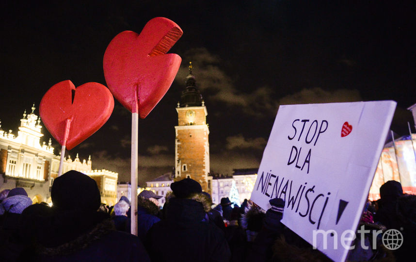 В Варшаве прошли стихийные митинги 14 января. Фото Getty
