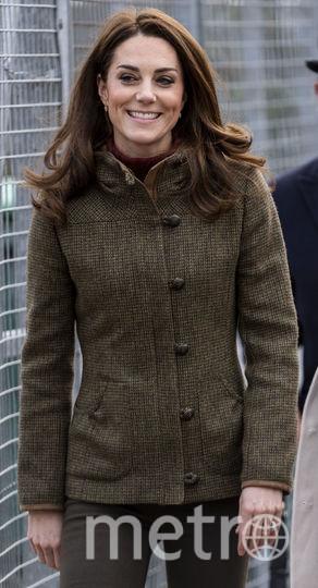 Кэтрин в твидовой куртке от Dubarry. Фото Getty