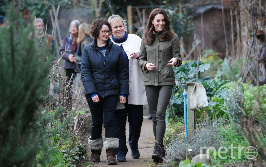 Кейт Миддлтон посетила Сад Короля Генриха. Фото Getty