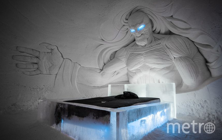 Спать приходится в спальниках. В отеле холодно. Фото Lapland Hotels SnowVillage.