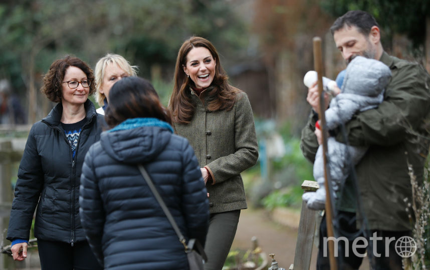 Кейт Миддлтон посетила Сад Короля Генриха 15 января. Фото Getty