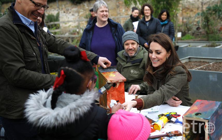 Кейт Миддлтон в саду 15 января. Фото Getty