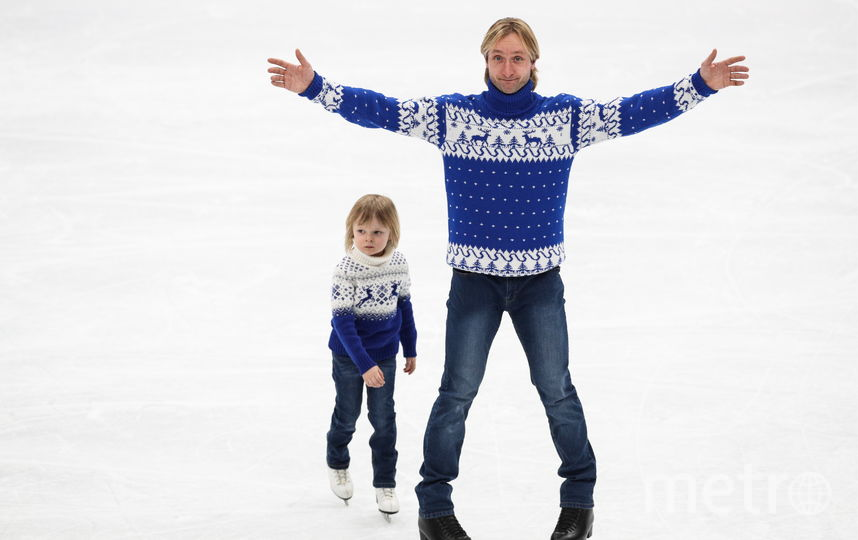 Евгений Плющенко с сыном. Фото Getty