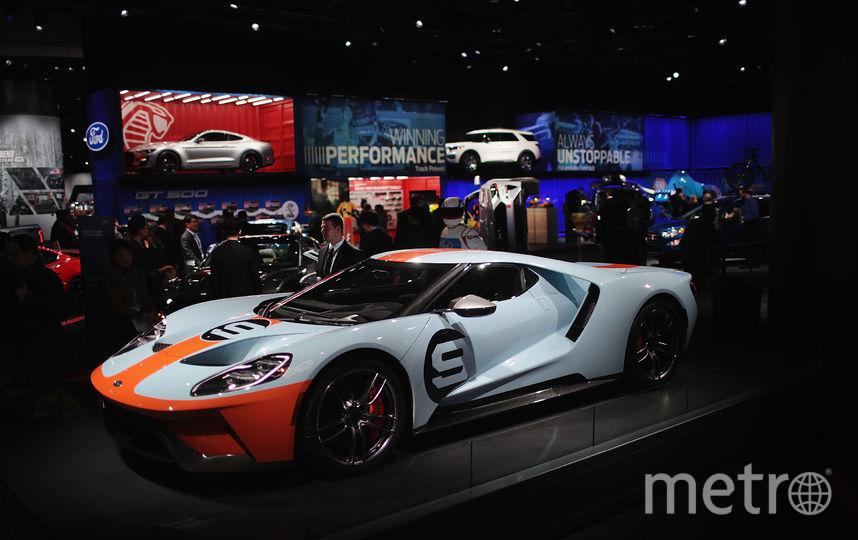 North American International Auto Show-2019. Ford GT. Фото Getty