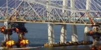 В Нью-Йорке взорвали мост через Гудзон: видео