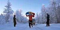 Экстремал пробежал в Оймяконе марафон при морозе ниже 60 градусов и помог ребёнку
