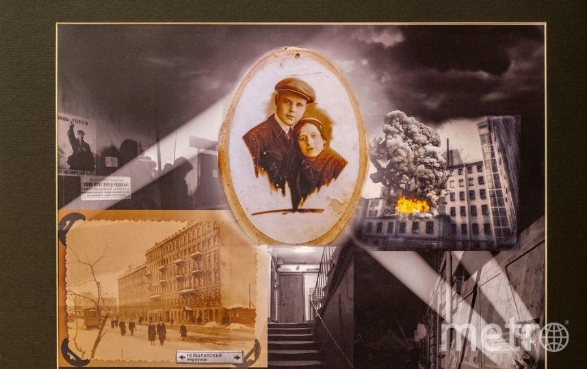 """Работа Елены Моон, посвящённая бабушке и дедушке. Фото Алена Бобрович, """"Metro"""""""