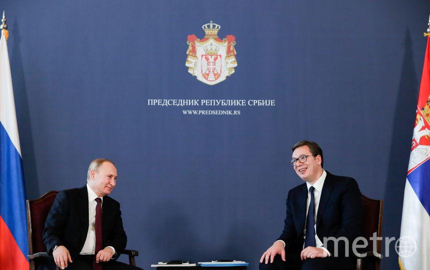 Путин и Вучич. Фото Getty