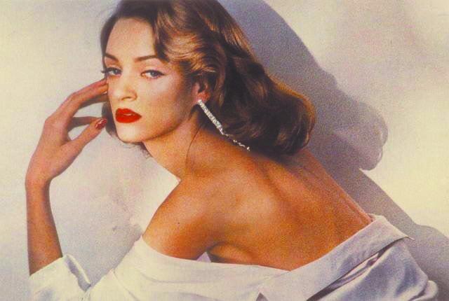 Это фото Умы Турман было опубликовано в 1992 году. Фото Vogue Германия, Предоставлено организаторами