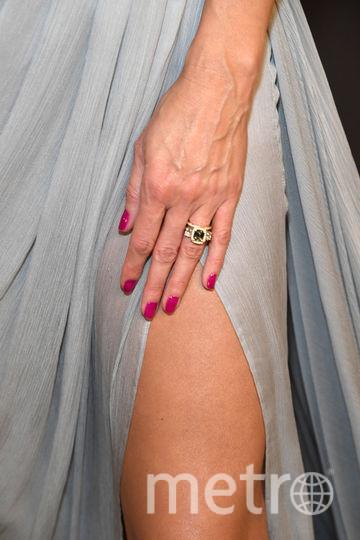Обручальное кольцо Хайди Клум с бриллиантами и александритом. Фото Getty