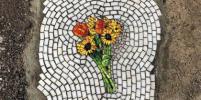 Стрит-арт как способ борьбы с ямами на дорогах. Фото