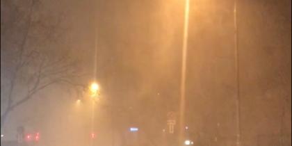Снежная гроза: москвичи делятся видео ночной грозы и молнии