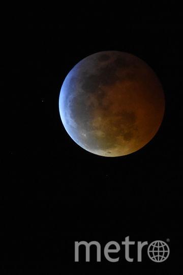 Кровавая Луна и затмение. Фото Getty