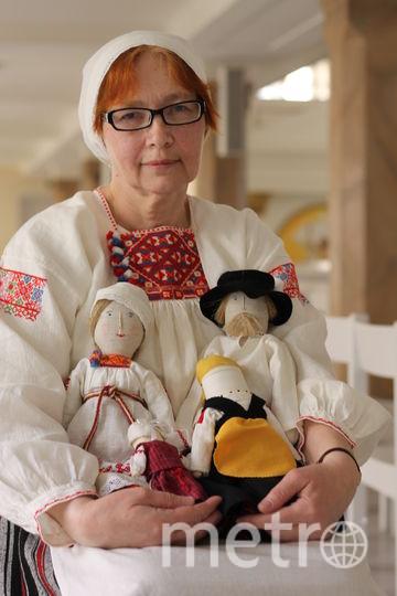 Мастерицы также делают традиционные льняные куклы с шерстяными элементами. Фото archeostudio, Предоставлено организаторами