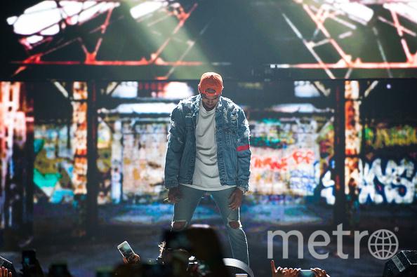 Американский певец Крис Браун. Фото Getty