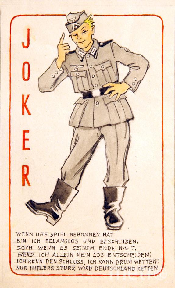 """Джокер. """"Когда игра начинается, я незаметный и скромный, но когда она подходит к концу, я сам должен принять решение: мне известен итог, могу оспорить, Германию спасет только свержение Гитлера."""" Фото Фото предоставлено пресс-службой Музея победы., Предоставлено организаторами"""