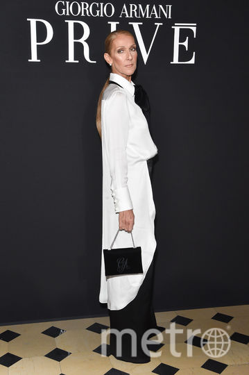 Показ Armani на Неделе моды в Париже. Селин Дион. Фото Getty