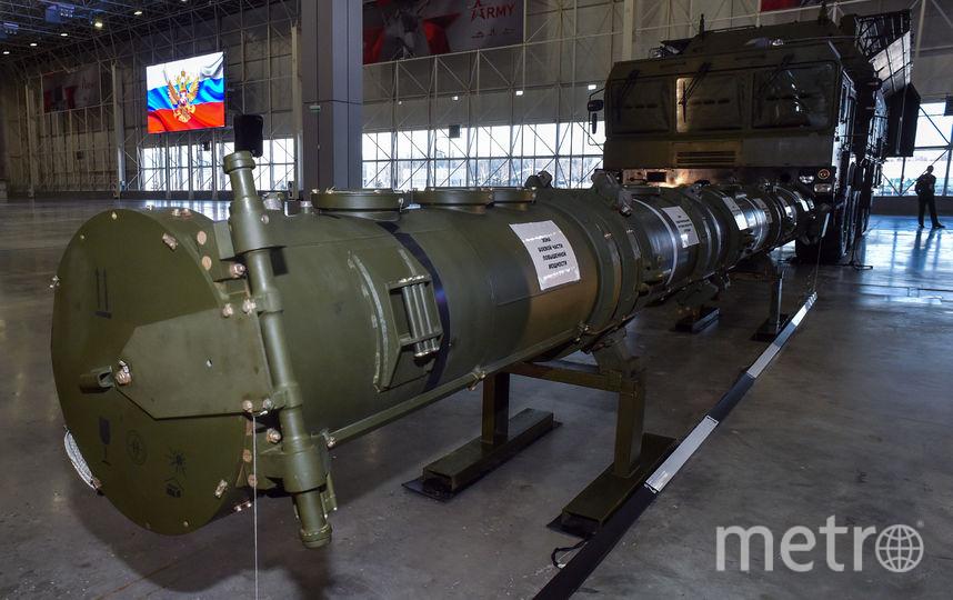 """Крылатая ракета 9М729 оперативно-тактического ракетного комплекса """"Искандер-М"""". Фото AFP"""