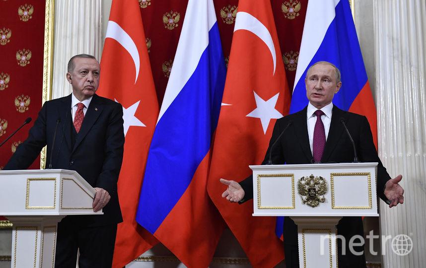 Реджеп Эрдоган и Владимир Путин. Фото AFP