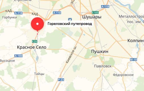 Реконструкция Гореловского путепровода завершится в августе 2019 года. Фото Скриншот Яндекс. Карты.