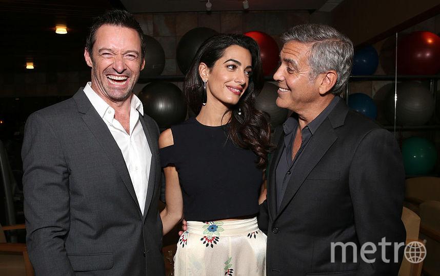 Хью Джекман, Джордж и Амаль Клуни. Фото Getty