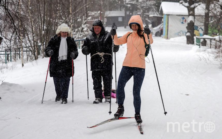 Поход на лыжах Для ребят от 10 до 18 лет. Двухдневный маршрут с ночёвкой в подмосковном монастыре. Фото РИА Новости