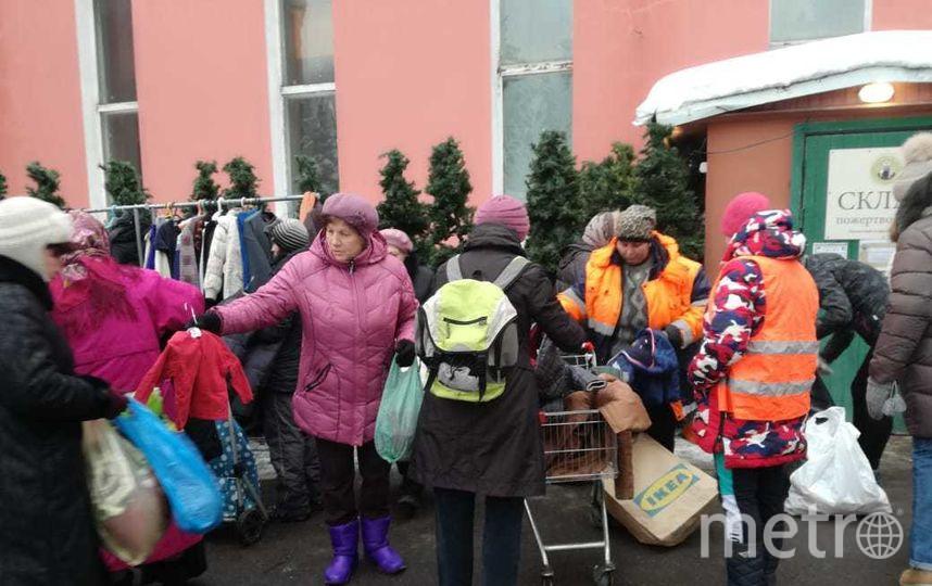 Сбор обежды и обуви для бездомных. Фото Предоставил Александр Гезалов.
