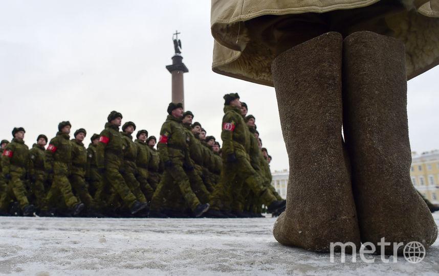 Репетиция парада к 75-ой годовщины снятия блокады Ленинграда. Фото AFP