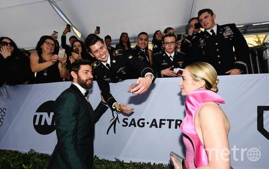 SAG Awards-2019. Джон Красински и Эмили Блант. Фото Getty