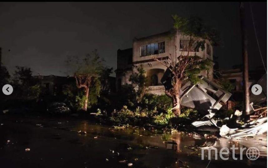 "Торнадо бушевал в Гаване. Фото https://www.instagram.com/p/BtKrX-vhUXl/, ""Metro"""