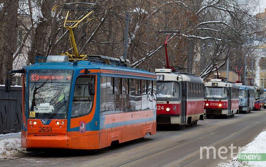 Шпалы из переработанного пластика уложат ещё на 22 участках трамвайных линий в Москве. Фото Василий Кузьмичёнок
