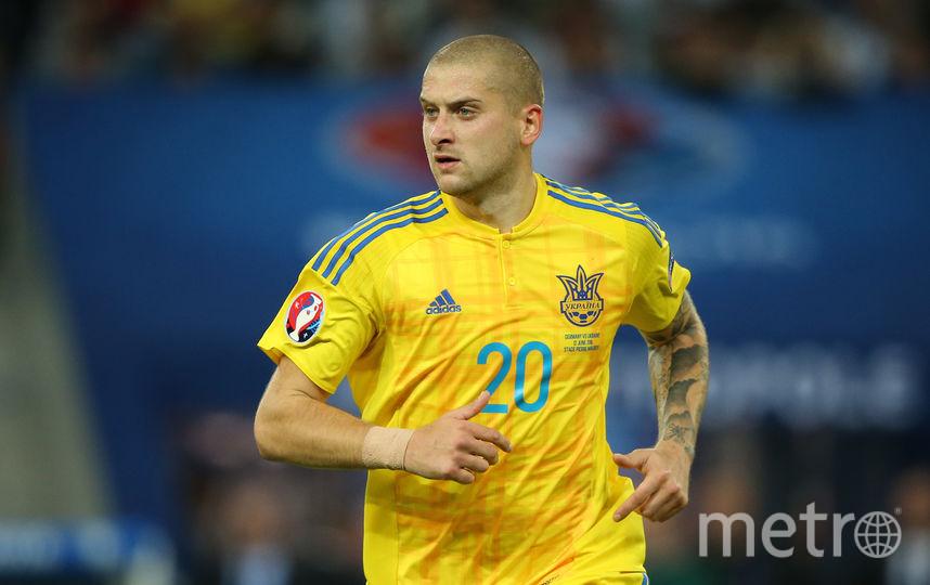 Защитник Ярослав Ракицкий в составе сборной Украины. Фото Getty