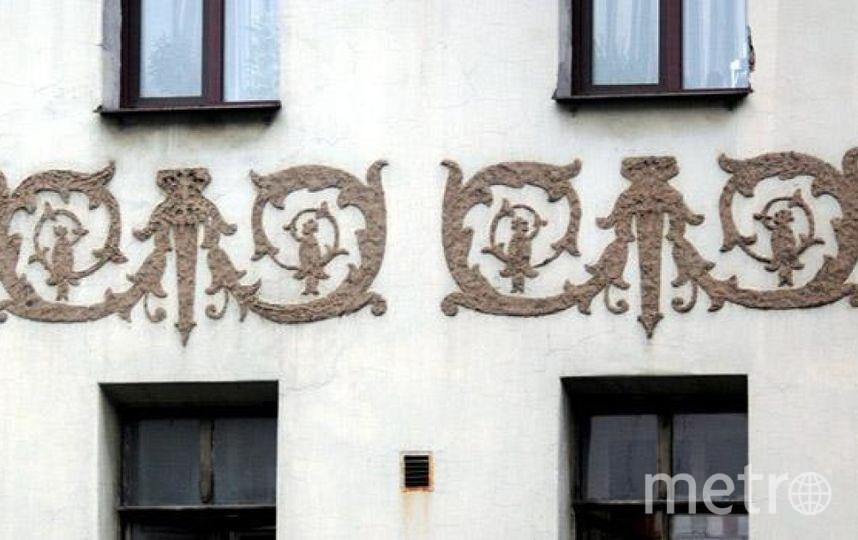 """Так ещё недавно выглядела лепнина на доме 17А по Малой Посадской. Фото  citywalls.ru, """"Metro"""""""