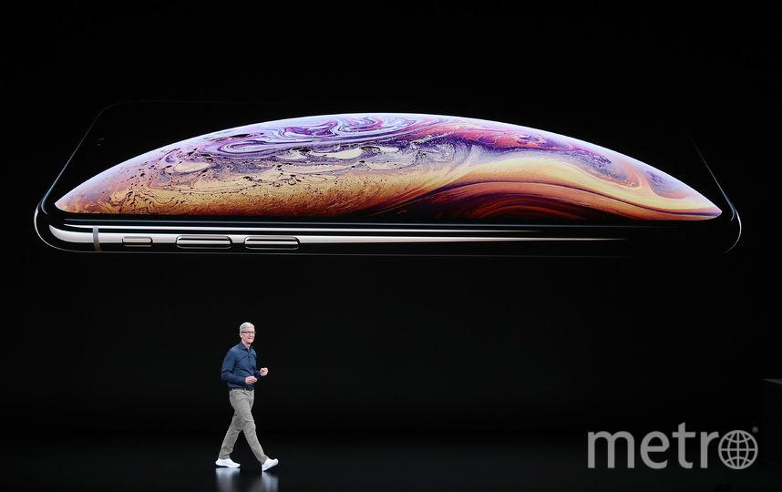 Тим Кук и новый iPhone XS. Фото Getty