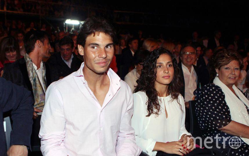 Рафаэль Надаль вместе с девушкой Хиской Марией Перелло. Фото Getty
