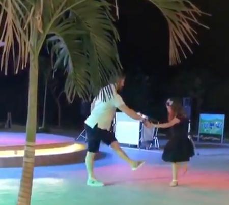 Овечкин удивил танцевальными способностями. Фото скриншот с видео instagram.com/nastyashubskaya