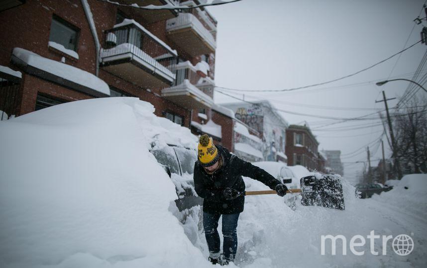 Снегопад в Квебеке. Фото Getty