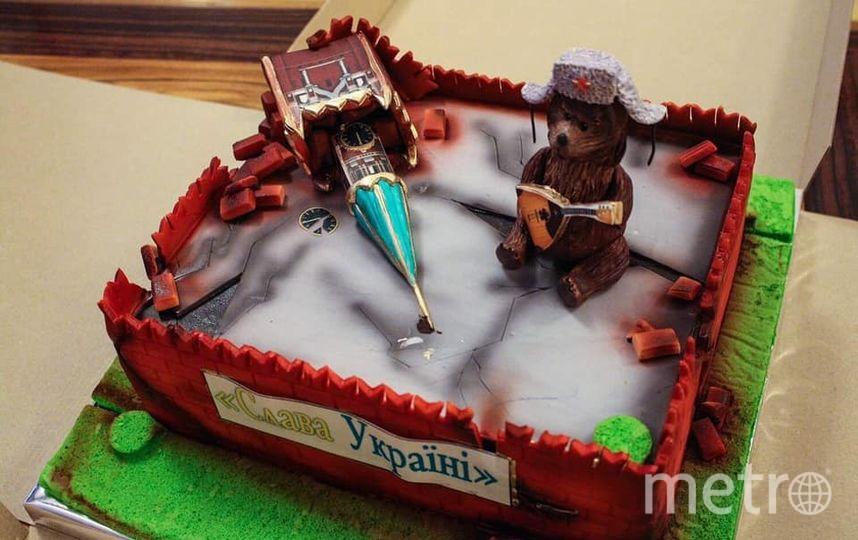 Торт на день рождения Владимиру Омеляну. Фото Facebook/Marina Tomko