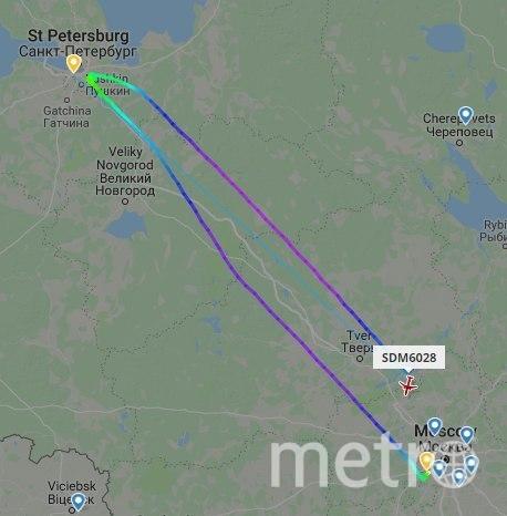 """Скриншот с сайта flightradar.live. Фото """"Metro"""""""