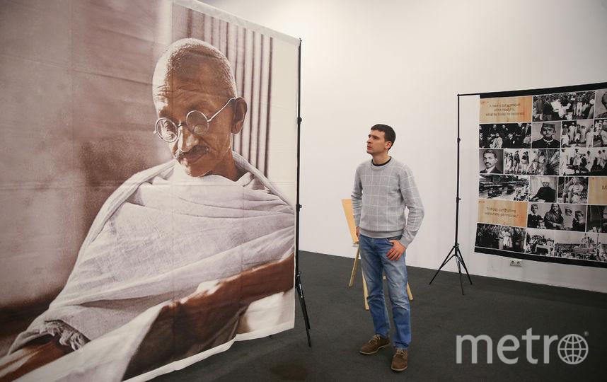 В Центральном доме художника открылась выставка, посвящённая Махатме Ганди. Фото Василий Кузьмичёнок