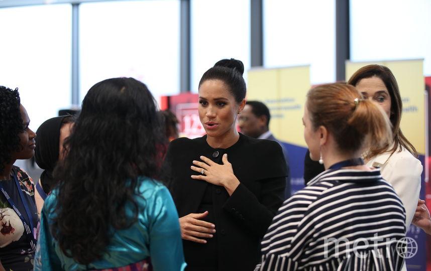 Меган Маркл посетила Ассоциацию университетов Содружества. Фото Getty