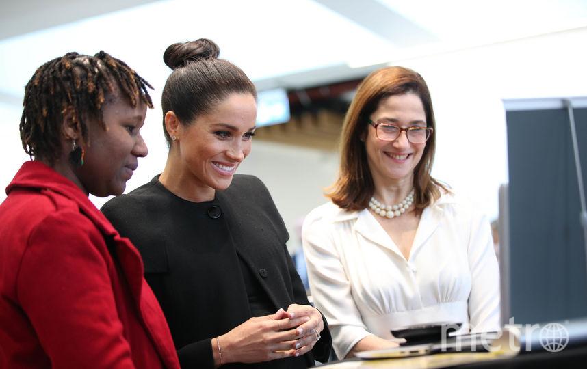 Во время визита Меган пообщалась по скайпу со студенткой из Ганы. Фото Getty