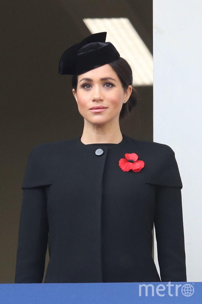 Меган Маркл в этом же пальто в ноябре 2018 года. Фото Getty