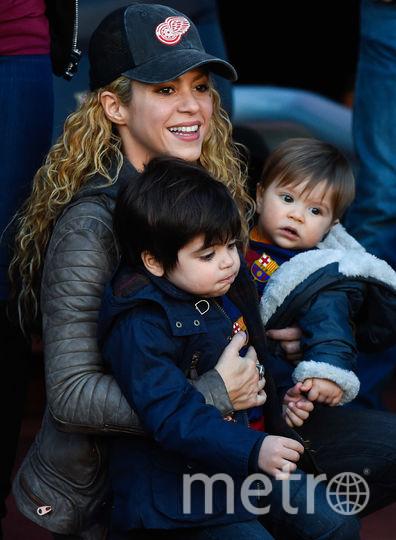 Шакира с сыновьями. Архивное фото. Фото Getty